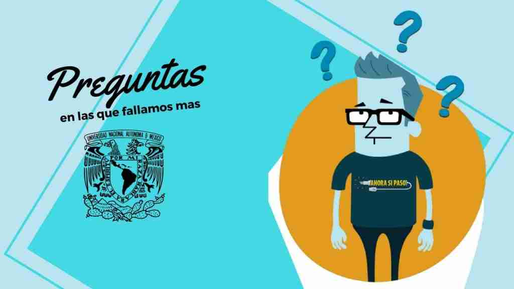 Portada del Post: Errores Examen de Ingreso UNAM