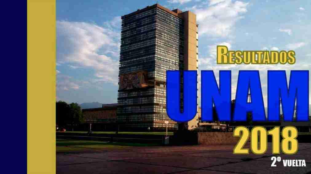 Portada del Post: Resultados Examen UNAM 2018
