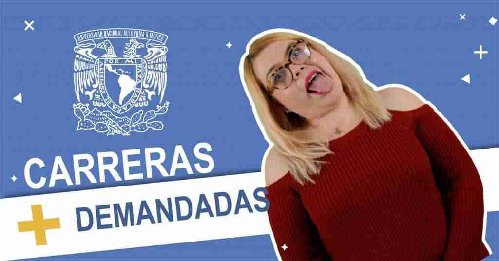 Portada del Post: Carreras de mayor demanda UNAM
