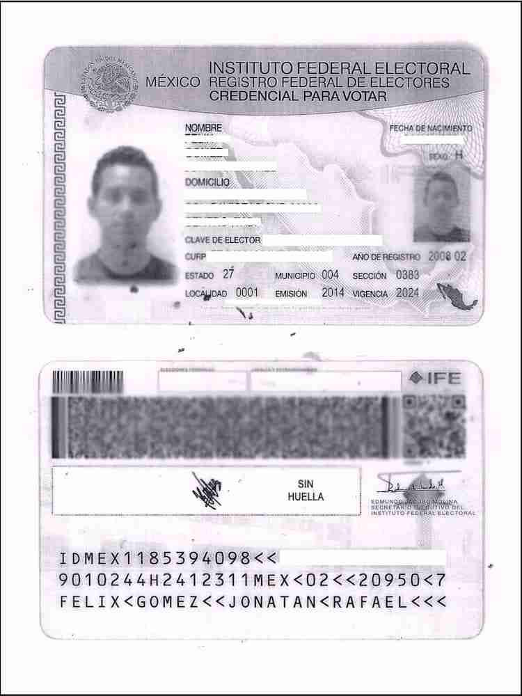 Ejemplo INE para Examen UNAM
