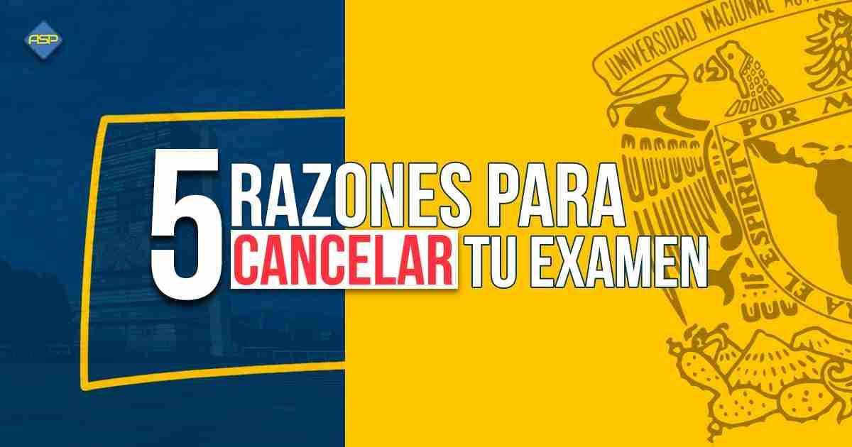 Qué no te cancelen tu examen UNAM