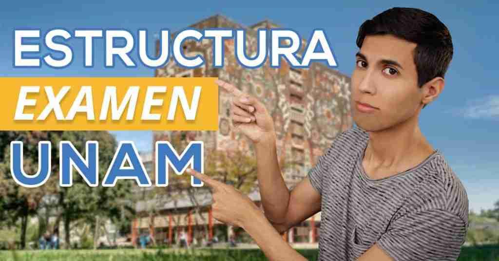 Portada del Post: Estructura Examen UNAM