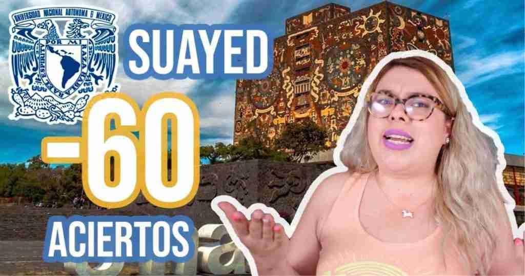 Carreras del SUAyED que piden menos de 60 aciertos