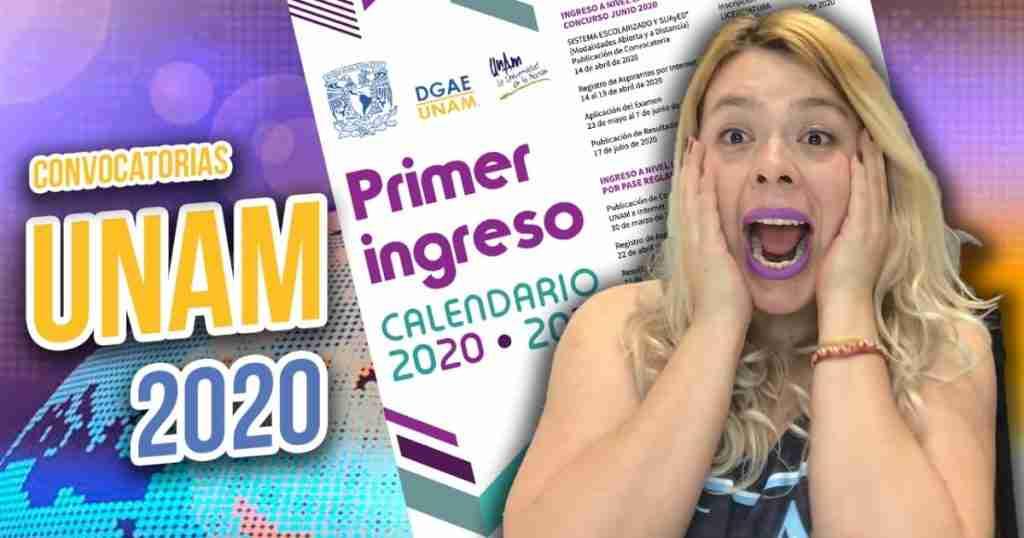 Calendario de ingreso UNAM 2020