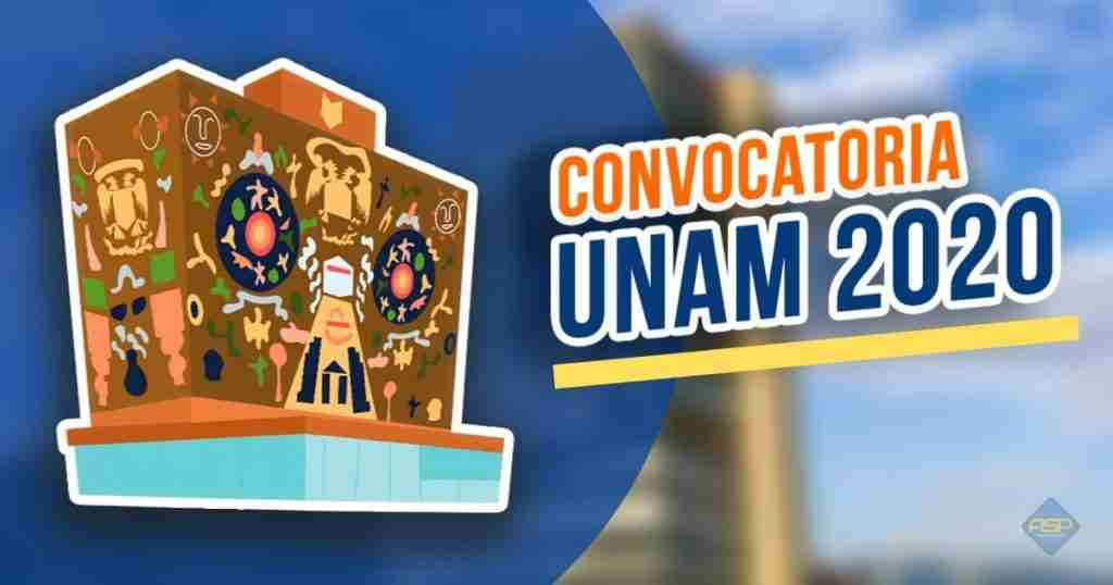 Portada del Post: Convocatoria UNAM 2020