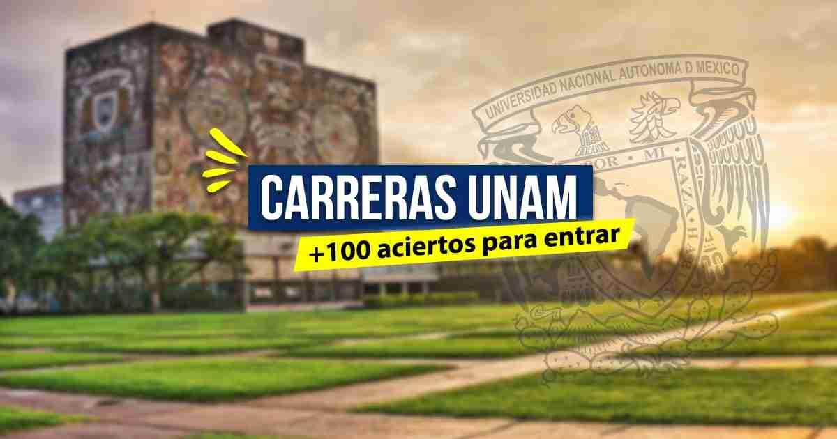 Carreras de la UNAM que piden más de 100 puntos