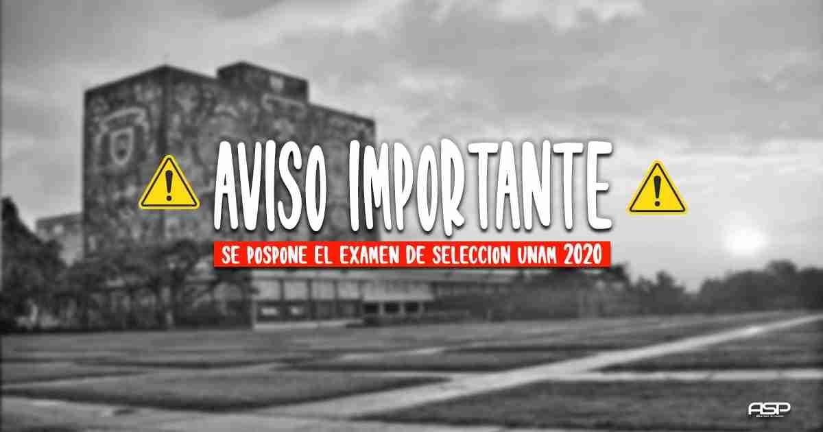 Comunicado Examen UNAM