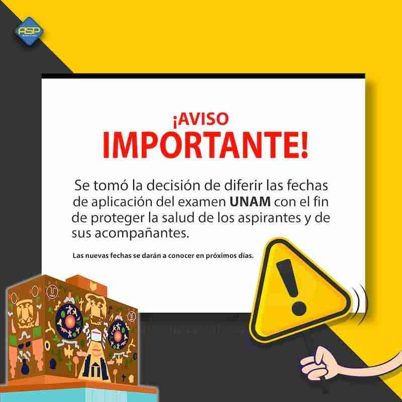 Examen UNAM pospuesto