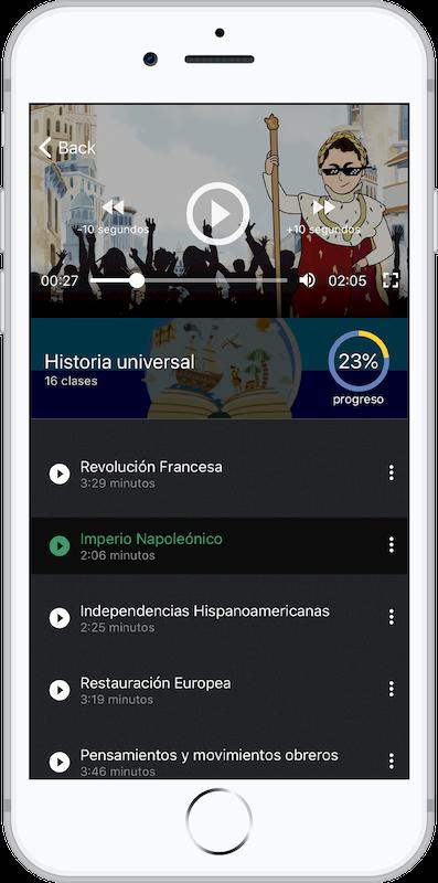 Ejemplo de Curso UNAM en App Móvil