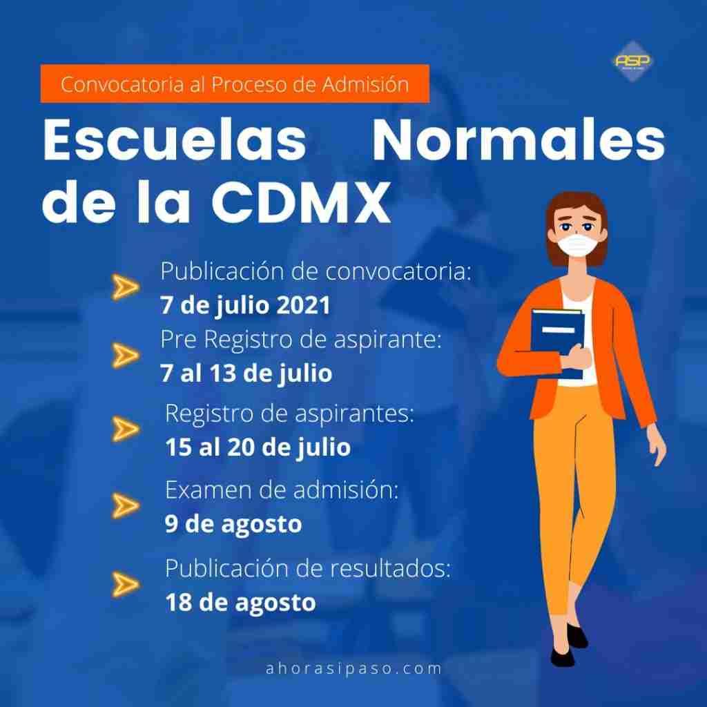Convocatoria Escuelas Normales CDMX